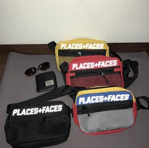 2019 Brand New Places+Faces 3M Reflective Skateboards Bag P+F Message Bags Casual Men And Women Hip-hop Shoulder belt Bag Mini Mobile Phone