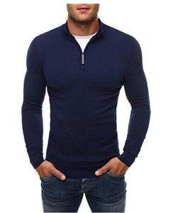 Winter Mens Designer Sweaters Knitted Turtle Neck Mens Tops European Style Solid Color Slim Males Clothing