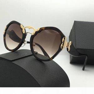 Forma gafas de sol redondas retro del SPR 09T lujo de la manera del estilo de la protección UV400 verano de la vendimia mujeres populares de la marca del diseñador vienen con el caso Vendido b