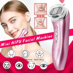 En Yeni Mini HIFU Makinası Yüksek Yoğunluk Kırışıklık Kaldırma LED Cilt Bakımı Güzellik Makinesi Kaldırma Ultrason HIFU RF Face Odaklı