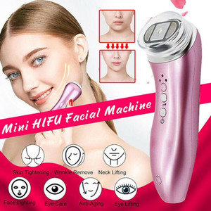 Neueste Mini HIFU-Maschine High Intensity Focused Ultrasound Hifu RF Face Lifting Faltenentfernung LED-Hautpflege Schönheit Maschine