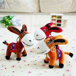 Peluş Oyuncak Bebekler Sevimli Doldurulmuş Hayvanlar Çocuk oyuncakları küçük kolye eşek 15cm Karikatür anime Koleksiyon Yumuşak oyuncaklar Hediye Keychains