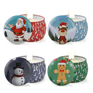 Christmas Scented Candles Decoration Santa Claus Snowman Cone Candles Smokeless Aroma Home Wedding Birthday Party Christmas Candle GGA2732