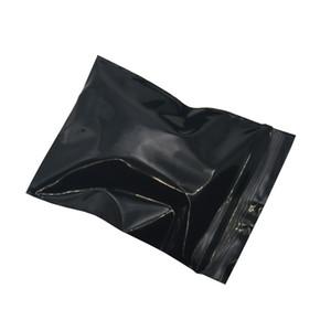 500pcs / lot 5 * 7cm Mini Black Ziplock Resealable de plástico sacos de embalagem Retail Plano Zip bloqueio de jóias pacote eletrônico Plastic Bags Atacado