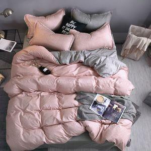 Conjunto de edredones de cama de diseñador Conjunto de ropa de cama 100% Poliéster Fibra Breve breve planta Funda de almohada Duvet Funda Conjuntos Cómoda Manta