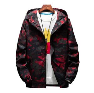 Mens Casual Camuflagem Com Capuz Jaquetas Outono Impressão Com Capuz Com Capuz Jaqueta Fina Casaco Streetwear dos homens chaqueta hombre
