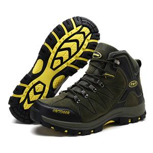 Bottes de chasse Bottes de randonnée en plein air respirantes Coupe haute en daim Escalade Chaussures tactiques Baskets de randonnée étanches pour hommes