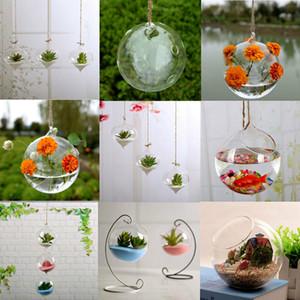 Dettagli sulla parete della pianta del fiore che appende la decorazione della sfera del giardino della casa del vaso di vetro di Vaso trasparente