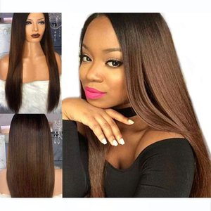 1B 30 Ombre Two Tone Lace Front Human Hair Wigs Baby Hair Around Long Silky Straight Remy Brazilian Blonde Full Lace Wig Bleached Knots