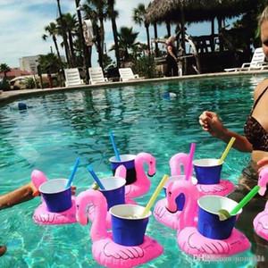 2019 Горячей Продажи Надувных Flamingo Напитки подстаканник Бассейн Поплавки Бар подстаканники плавсредства Детская игрушка ванна маленького размер
