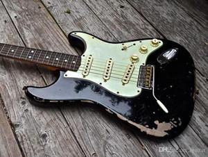 Michael Landau Envejecido Reliquia de la guitarra eléctrica 1968 Strat 2014 Negro de encargo de la guitarra tienda