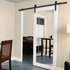 الكلاسيكية الشعبية خشبي انزلاق الحظيرة الأجهزة الباب انزلاق المسار السوداء ريفي عدة أجهزة باب الحظيرة للشقة