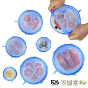 Silikon-Stretch-Deckel wiederverwendbare luftdichte Lebensmittelverpackungen deckt frische Dichtung Schüssel dehnbar Wrap Abdeckung Küche Kochgeschirr