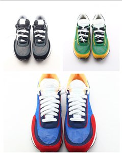 Nouveau UNDERCOVER x Sacai LDV Gaufre bleu vert Casual Chaussures Blazer Avec Le Dunk Blanc Bleu Jaune Noir Hommes Sacai Toki Slip Designer Chaussures