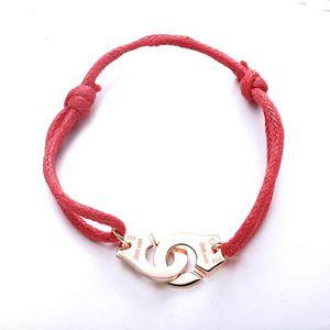 Charms 925 Prezzo Francia monili braccialetto donne di modo per lo Sterling Silver Rope manetta Bracciale