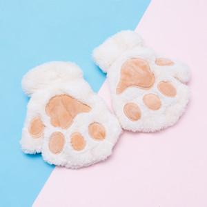 Çocuk Kış Eldiven Çocuklar Sevimli Kedi Pençesi Eldiven Eldivenler Kalınlaşmak Peluş Sıcak eldivenler Karikatür Öğrenci Eldiven Çocuk Eldiven hediyeler DBC VT1050