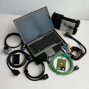 MB Estrela C5 SD Connect para caminhão de carro com soft-ware HDD V03.2021 em 320GB HDD D630 laptop para Mercedes auto diagnóstico ferramentas