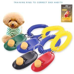 Pet Bark Clicker Сдерживающие Средства Тренер Pet Dog Puppy Training Button Sound Наручный Брелок Портативный Универсальный Кликер Для Дрессировки Собак