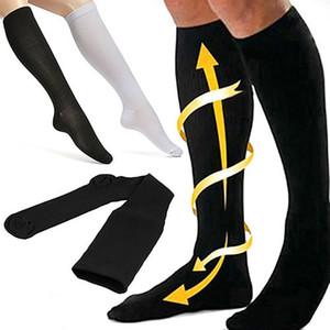 جديد للجنسين جوارب ضغط جوارب ضغط دوالي الجورب الركبة عالية الساق دعم تمتد الدورة الدموية الضغط