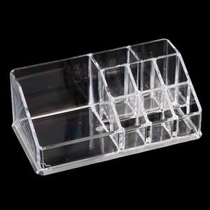Прозрачный косметический организатор хранения макияж дисплей коробка держатель губной помады 17x9. 4x6. 7 см-1