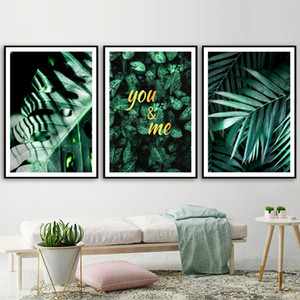 Fresh Green Tropical Plants Leaf Nordic Posters And Prints Wall Art Canvas Painting Decoration Wall Pictures For Living Room