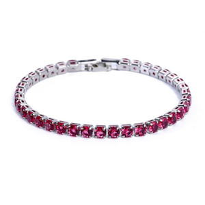 18K White Gold Plated Sparkling Cubic Zircon CZ Cluster Tennis Bracelet Fashion Womens Jewelry for Party Wedding