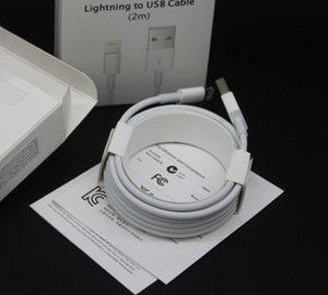 Original OEM high quality 1M 3FT 2M 6FT USB Charger Cable Data Cord Charging For iphone6 i 5 6 7 8 X Plus With retail box