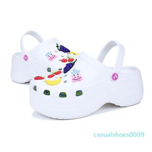 Cute Sandals Women Increase Height 6 CM Platform Sandals Clogs Mules Shoes Women Slippers Sandales c09