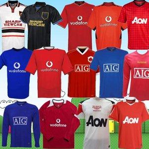 2000 2002 Manchester Retro 2010 2004 2008 2007 08 United Soccer camisa de futebol camisa Giggs SCHOLES Beckham RONALDO CANTONA KEANE topo