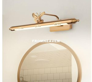 52cm / 62cm / 72cm Bathroom Specchio lampada impermeabile retro bronzo armadietto di vanità Specchio luci della luce della parete ha condotto la lampada della lampada LED Wall Light