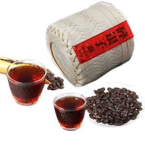 Предпочтение 500 г Юньнань спелый Пуэр чай подарок приготовленный Пуэр чай китайский ручной бамбук корзина красивый пакет для подарка
