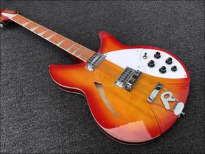 Su ordine all'ingrosso di alta qualità della chitarra elettrica a 12 corde, il corpo 360 chitarra elettrica, rosso ciliegia scoppiare, tastiera in palissandro, fornire Personalizza