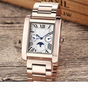 Top brand men women watches high quality functional sub dial works day date original clasp stainless steel case waterproof designer watch