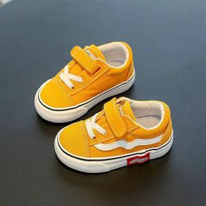 Niños Primeros caminantes zapatos de lona 1-3 años de edad para niños Soled Soled Baby Girls Deportes Sports Casual Kids Sneakers
