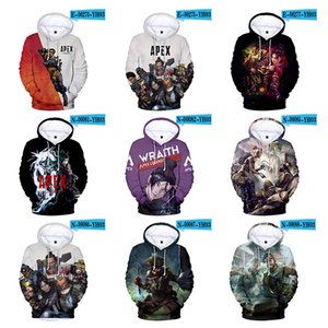Apex Legends Adult and Kids Color 3D Digital Apex Legends Hero Digital Print Spring and Summer Hooded hoodie W9587845 50pcs
