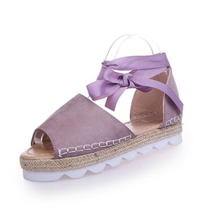 Hot Sale-Flats Fashion Casual Shoes For Woman European Rome Style Sandale Femme footwear Plus Size 35-43
