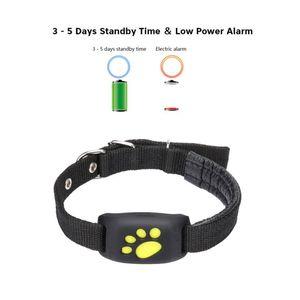 Mini Pet GPS Tracker Dog Cat collier GPS Callback résistant à l'eau Fonction de charge USB GPS Trackers Chiens Chats Fournitures