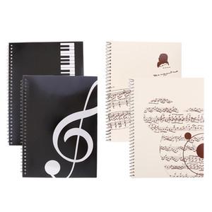 Набор из 4 частей Blank Ноты Состав рукописные Сотрудники бумаги Искусство Музыка Ноутбуки Музыканты Подарки А4 50 страниц