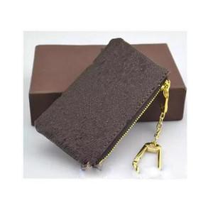 KEY МЕШОК Damier кожа имеет высокое качество известных классических женщин ключевой держатель монет кошелек маленький кожаный ключ бумажники бесплатная доставка