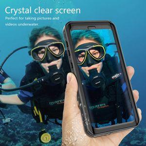 Caja del teléfono a prueba de agua IP68 para Samsung Galaxy S10 Plus S10E S10 S9 S8 S8 Plus Nota 8 9 Impermeable Protección completa Buceo submarino Fundas