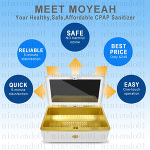 MOYEAH Portable Sanitizer CPAP Cleaner Supplies Ozono Free UV per Respiratore con tubo maschera CPAP