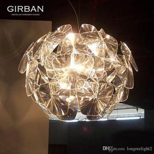 Moderne Laser Pendant Light Effacer l'espoir Lampe à suspension Lustre en acrylique Fixture d'éclairage créatif libre Shippiing