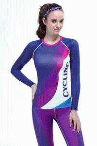 Cycling Women Mid Stretch Comfort Sport 3D Long Sleeve Top Women Gym Tops Fitness Sexy Shirt Jersey