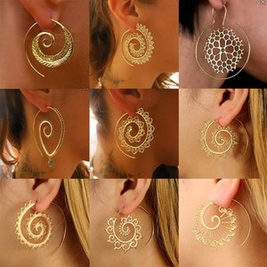 New Arrives Hyperbole Gear Earrings Swirl Drop Earring Spiral Type Geometric Simple Hoop Ear Hook Eardrop Women Designer Jewelry Gifts