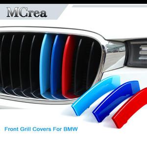 Tiras coche del emblema de etiquetas para BMW X5 E53 E70 E71 F15 G05 X6 X1 E84 F16 F48 F25 G01 X3 X4 G02 F26 BMW M Accesorios Parrilla delantera