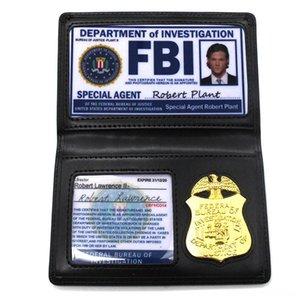 Hot Vente Jeux de Rôle Props Supernatural Dean Sam Winchester Outils Atelier Jeux de rôles et Dress-up du FBI Badge titulaire de la carte de police de carte d'identité