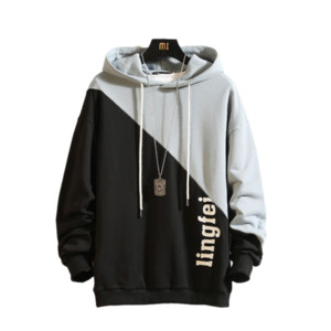 2020 Fashion Sweatshirt Men's Casual Hooded Patchwork Pullover Hoodies hip hop Sweatshirt Mens Hoodies