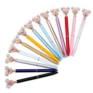 Mariposa del diamante Bolígrafo Tipo Bala 1.0 Oficina Pluma efectos de escritorio creativa Publicidad 12 colores