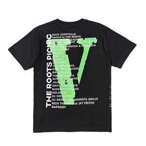 Vlone T قميص رجل إمرأة ذات جودة عالية الهيب هوب تي شيرت Vlone الحياة الرجال المصمم T shirt قمزة حجم S-XL
