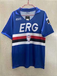 1990 1991 Sampdoria Retro futbol formaları Mancini ev Klasik Vintage futbol Spor gömleklerinin S-2XL
